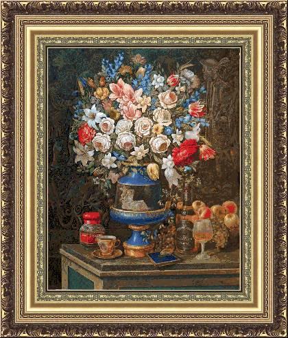 Натюрморт с великолепни цветя (420x492, 67Kb)