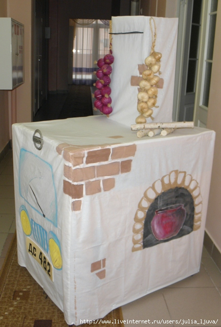Печка из картона своими руками для детского сада 44