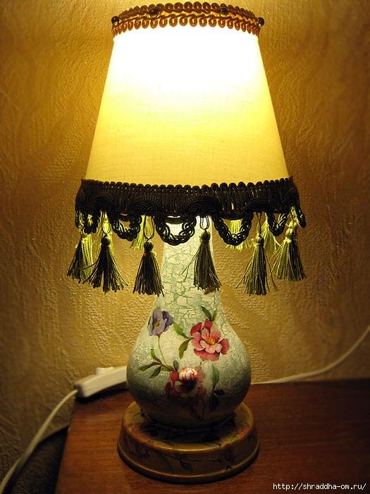 настольная лампа абажур в стиле винтаж, автор Shraddha, 2 (525x700, 277Kb)
