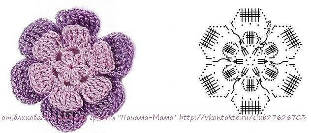 Crochetpedia: 2D Crochet Flowers Free Patterns