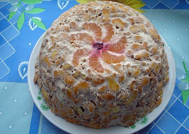 Торт из крекера и сгущенки рецепт