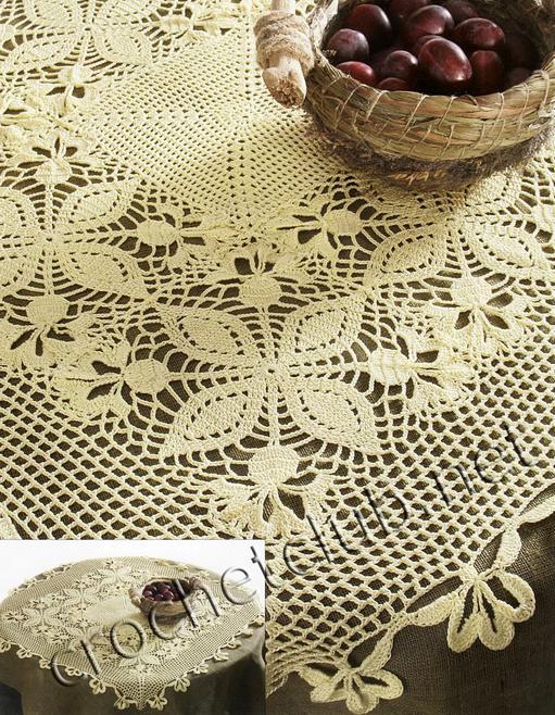 Схемы вязания крючком скатерти