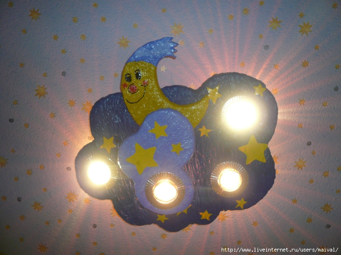 Детские светильники потолочные своими руками