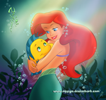 ariel_and_flounder_by_nippy13-d4cw0sp (150x142, 41Kb)