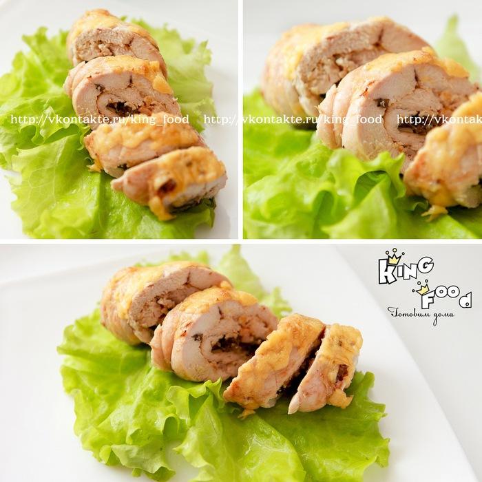 куриные рулетики с грибами и сыром в соусе рецепт с фото