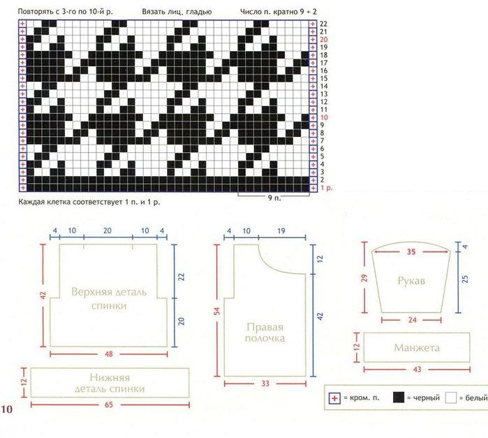 Вязание схемы и узоры гусиные лапки