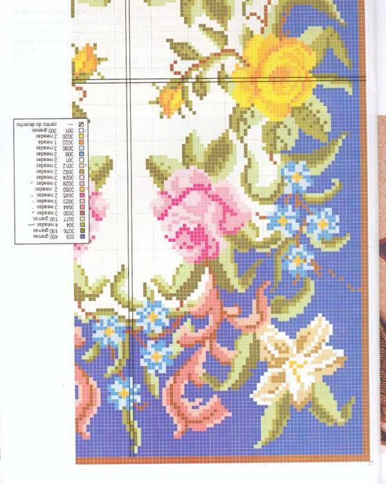 Вышивка ковра крестом схемы 255