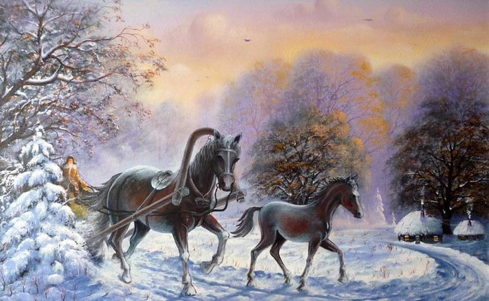 Зимняя сказка жеребенок (700x431, 120Kb)