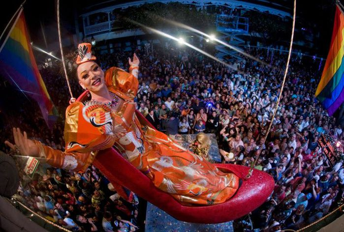 The dazzling Sushi stars in the New Year's Eve drag queen drop in