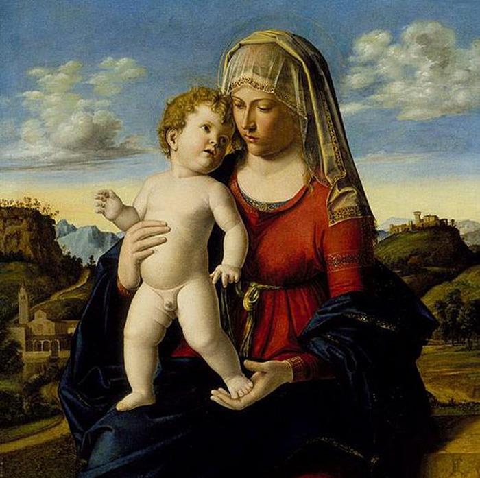 543px-Cima_da_Conegliano_-_Madonna_col_Bambino,_Raleigh (700x697, 143Kb)