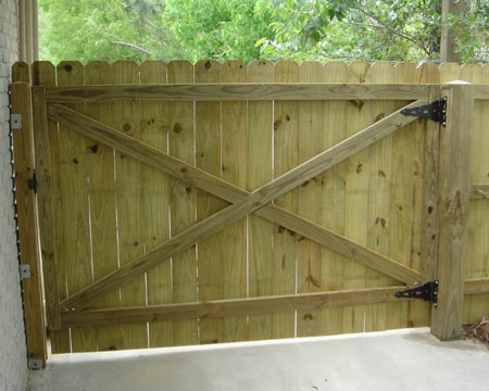 Каркас для деревянных ворот