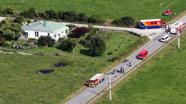 Падение воздушного шара в Новой Зеландии