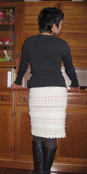 Таким образом юбка получается