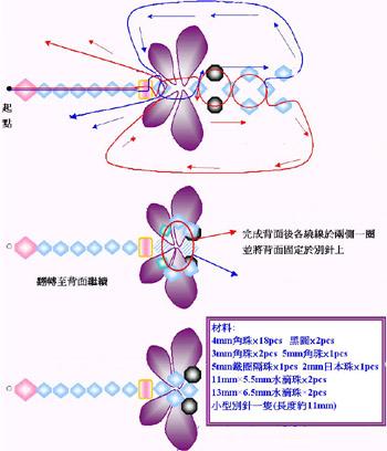 стрекоза из бисера схема - Схемы.