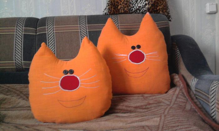 Как своими руками сшить подушку для кошки