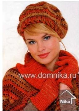 Берет-шапочка с двухцветным  узором крючком-для   девушек/4683827_20120110_140320 (255x355, 32Kb)