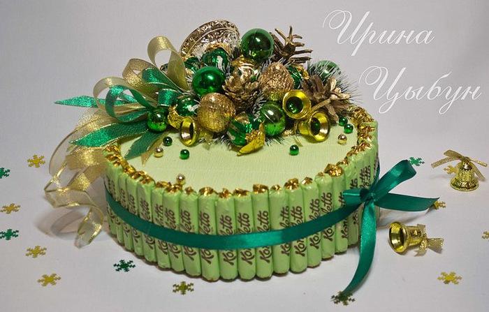 Новогодние торты своими руками мастер класс