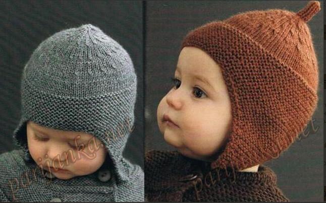 Шапочка -шлем с ушками для малышей связана спицами  - очень удобная /4683827_20111231_190628 (646x403, 82Kb)