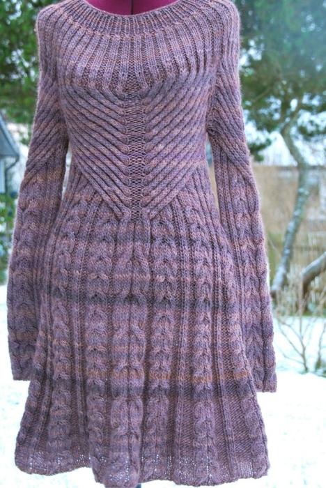棒针连衣裙(123) - 柳芯飘雪 - 柳芯飘雪的博客