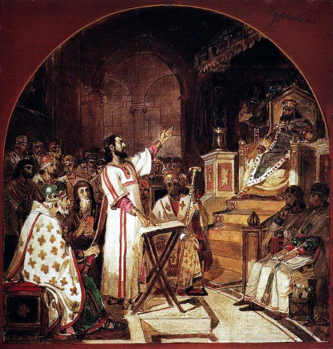 Первый Вселенский Никейский Собор. 1876 (669x700, 233Kb)