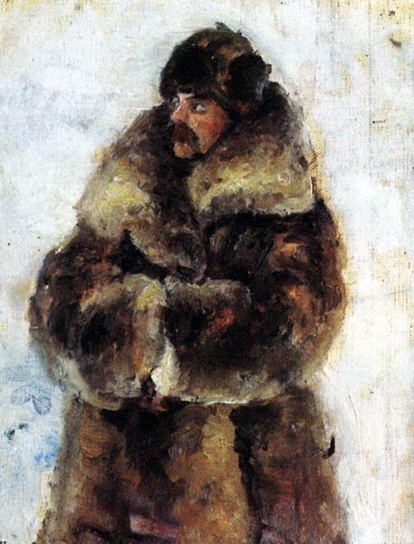 А. И. Суриков в шубе. 1889-1890 (457x600, 111Kb)