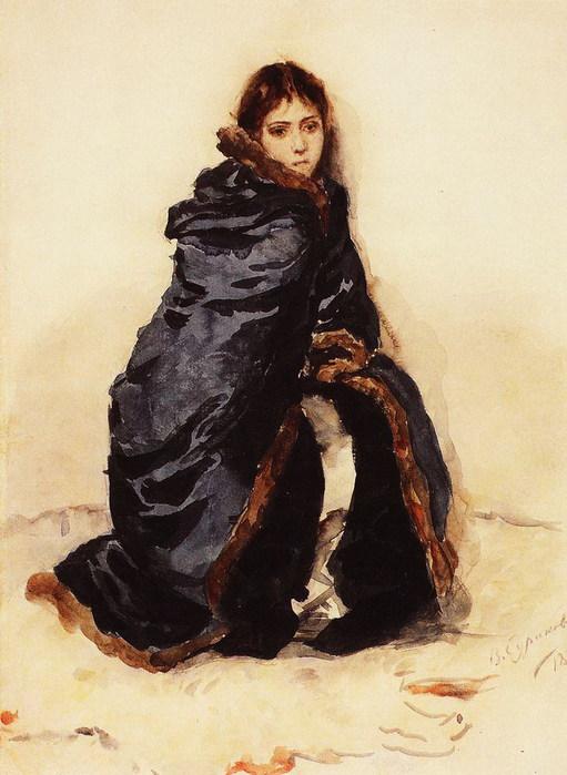 Старшая дочь Меншикова. Жена художника Елизавета Августовна Сурикова, урожденная Шаре 1882 (511x700, 88Kb)