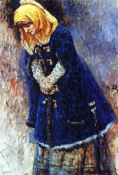 Боярышня в синей шубке. 1887 (473x700, 171Kb)