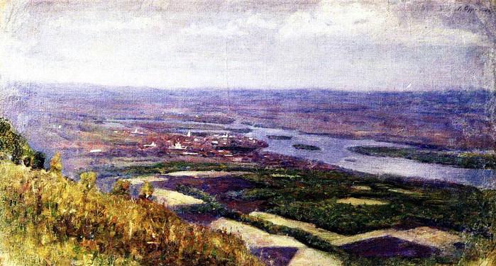 Вид на Красноярск с сопки. 1890-е (700x376, 121Kb)
