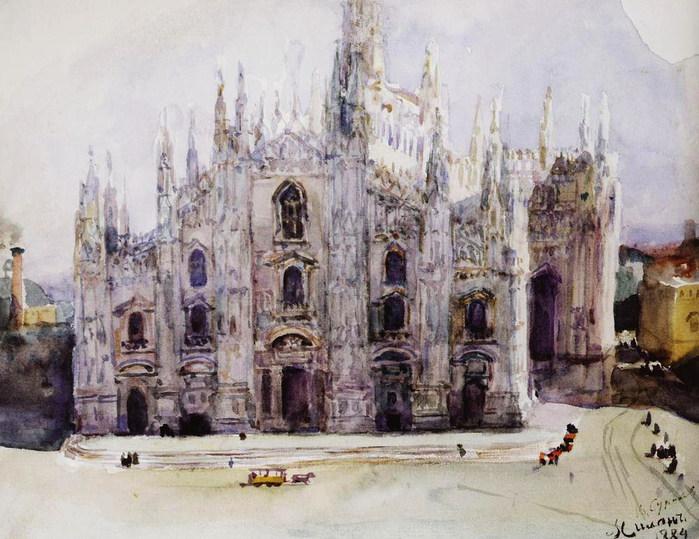 Миланский собор. 1884 (700x539, 116Kb)