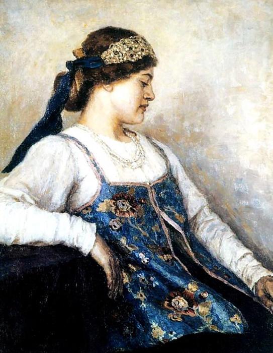 Женский портрет (Наталья Матвеева) (543x700, 113Kb)