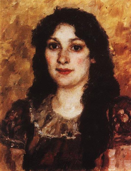 Портрет Елизаветы Августовны Суриковой, жены художника. 1888 (534x700, 106Kb)