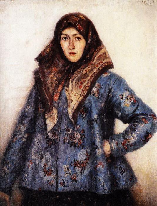 Портрет Л.Т.Маториной. Казачка 1892 (534x700, 149Kb)