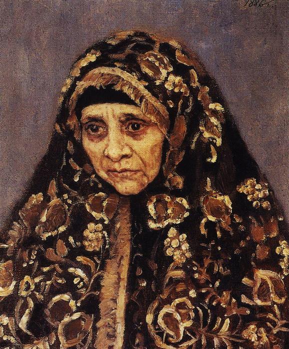 Старуха в узорчатом платке 1886 (579x700, 211Kb)