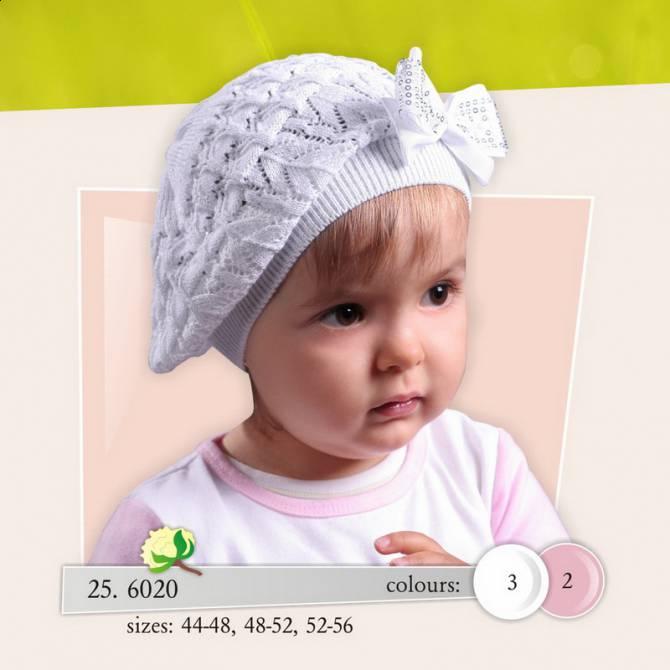 Вязание шапочки для девочек на два года