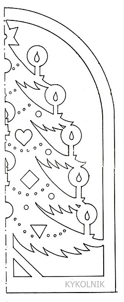 Бумажные трафареты для вырезания из бумаги на новый год