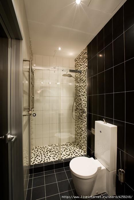 Дизайн ванной с душем без поддона
