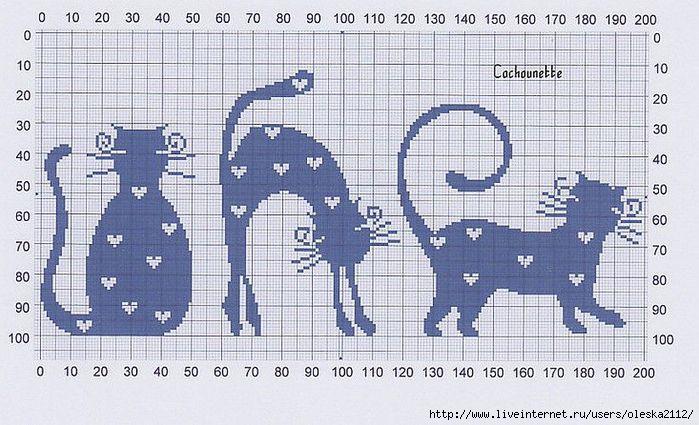 котики в сердечках (700x425, 214Kb)