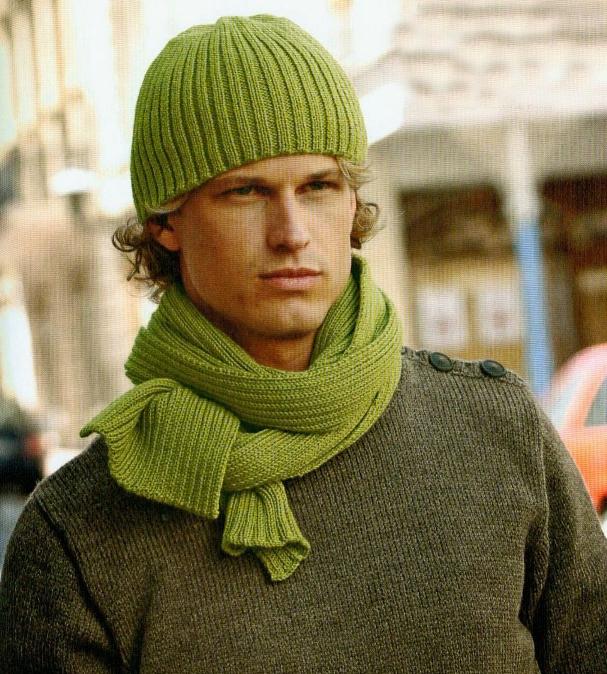 Мужские шарфы, мужские шапки
