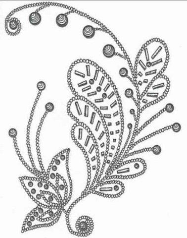 машинная вышивка ришелье схемы и рисунки