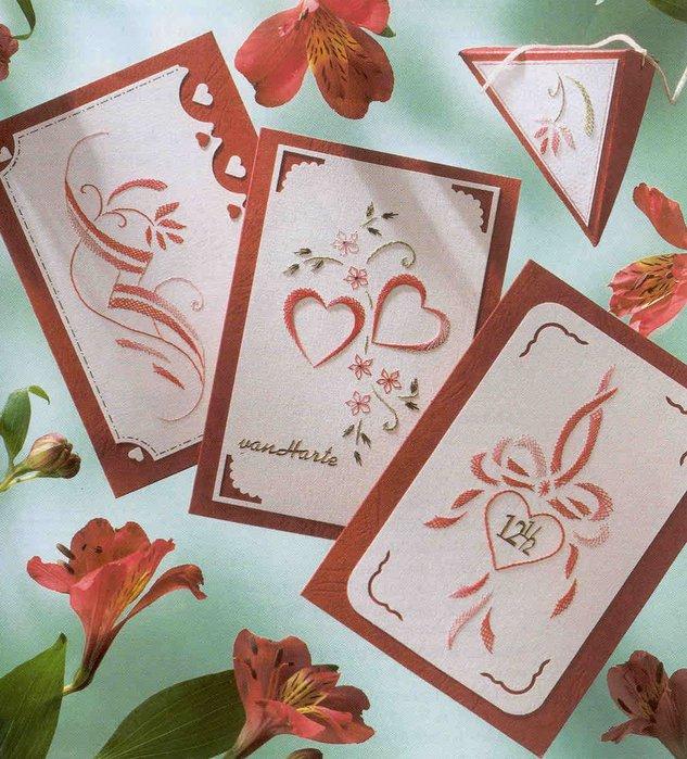Нежные открытки - вышивка по