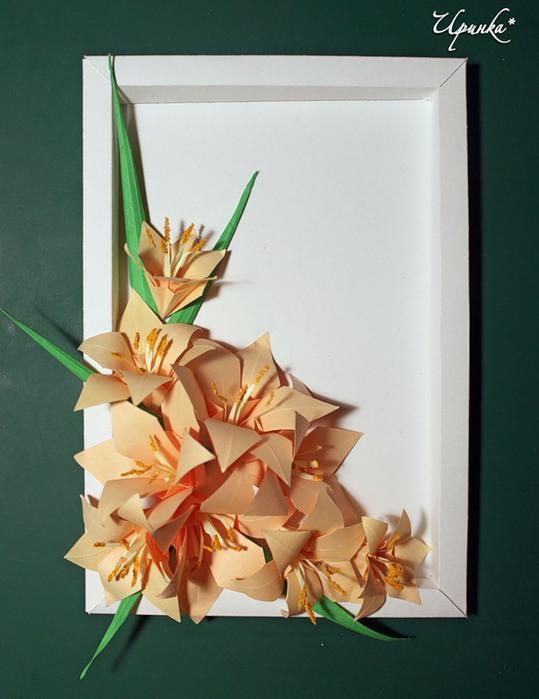 Картины с оригами своими руками