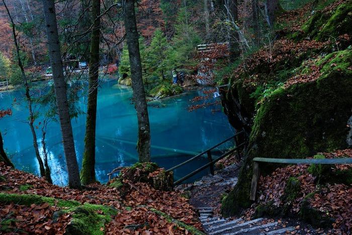 На холодно-синем стекле воды - Blausee 14514