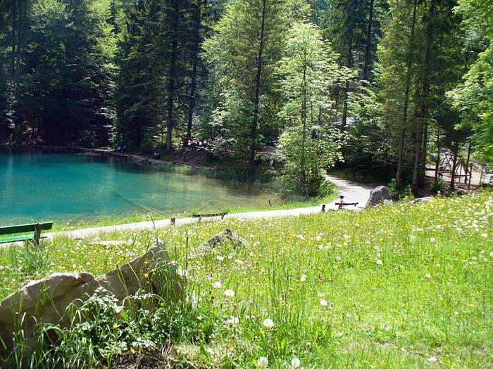 На холодно-синем стекле воды - Blausee 47608