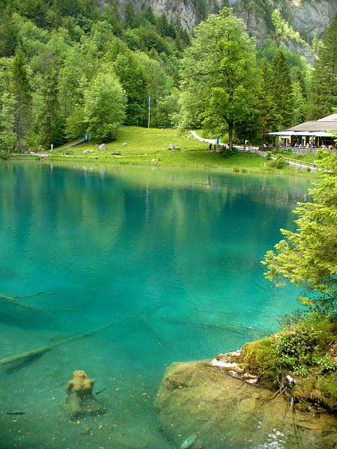На холодно-синем стекле воды - Blausee 39745