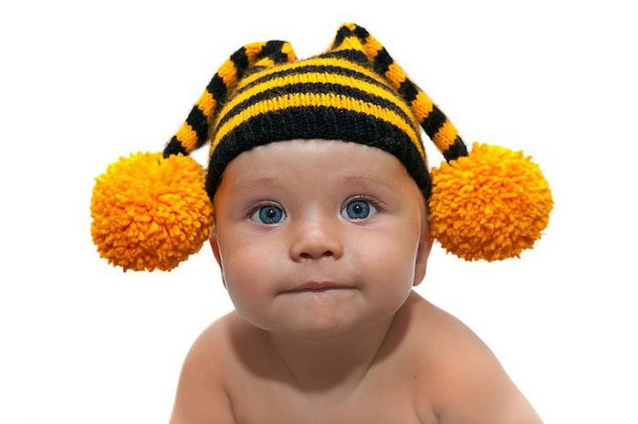 Вязание шапок для детей,