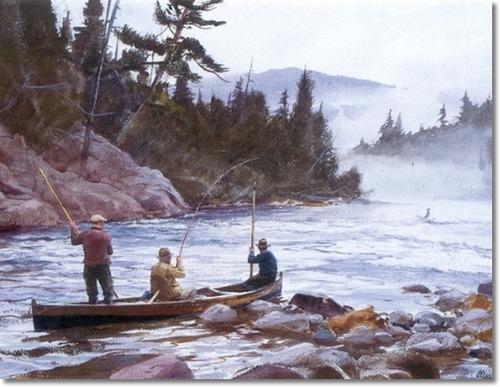 роспись пейзаж с рыбаком/2348101_ogdenpleissnerabigonehookedfishingpainting (500x387, 68Kb)