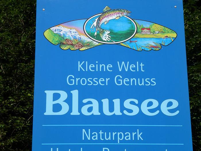 На холодно-синем стекле воды - Blausee 71466