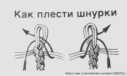 Вязание крючком шнурочек
