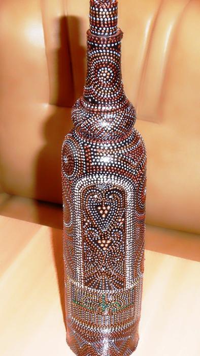 Роспись на глинянной бутылке 38317