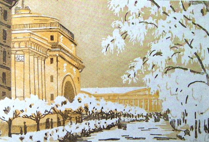 Адмиралтейство под снегом. 1901г. (700x475, 153Kb)